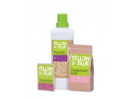 Yellow & Blue Výhodná sada Prací gel levandule 1 l + Změkčovač vody 250 g + Testovací pásek
