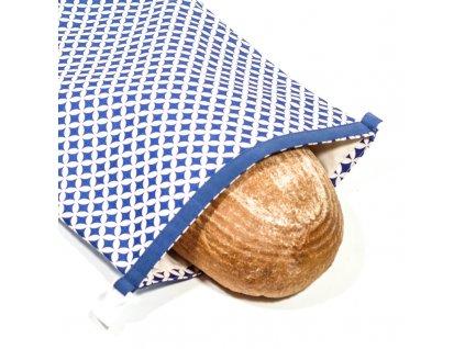 Green Smile Ekologický vak na chleba s membránou Modrý ornament