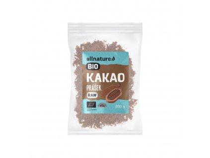 Allnature Kakaový prášek BIO RAW 200 g