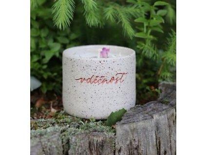 Z Lesa Svíčka v keramickém obale Vděčnost 240 ml