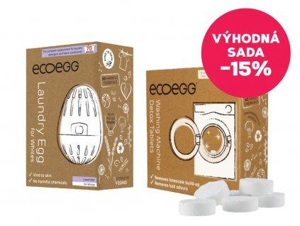 Ecoegg Výhodná sada Vajíčko na praní Levandule + Čistící tablety do pračky