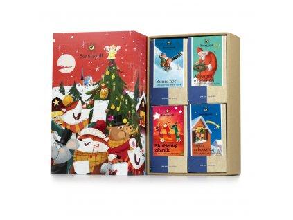Sonnentor Dárková kazeta čajů Kouzelné vánoce