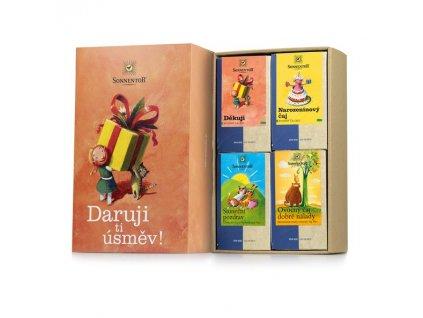 Sonnentor Dárková kazeta čajů Daruji ti úsměv