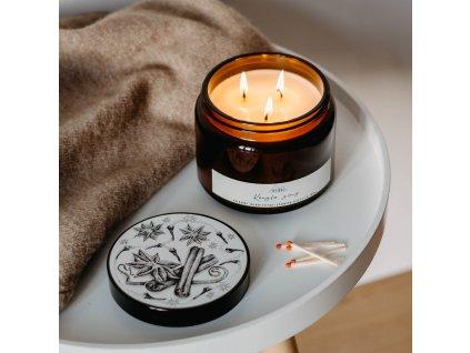 Svíčkuj Ručně vyráběná svíčka Kouzlo zimy 500 ml
