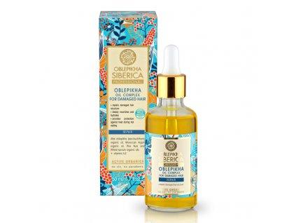 Natura Siberica Rakytníkový olej pro péči o poškozené vlasy 50 ml