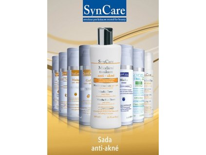 Syncare Sada anti akné s krémem Glycoretinal