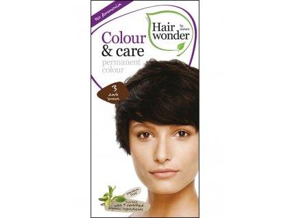 Hairwonder Dlouhotrvající barva Bio Tmavá hnědá 3