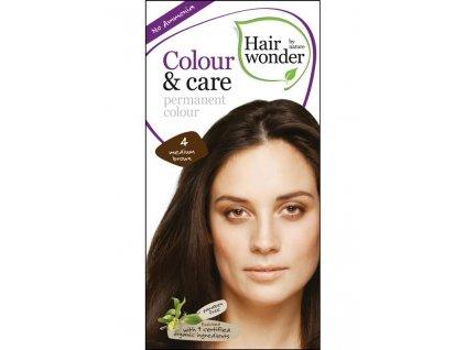 Hairwonder Dlouhotrvající barva Bio Středně hnědá 4 100ML