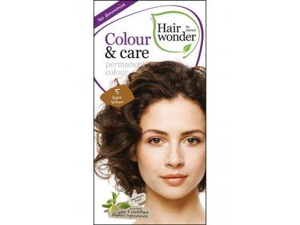 Hairwonder Dlouhotrvající barva Bio Světlá hnědá 5 100ML