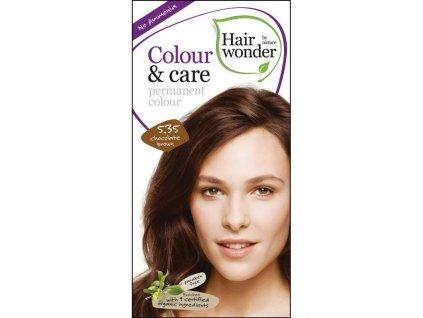 Hairwonder Dlouhotrvající barva Bio Čokoládová hnědá 5.35 100ml