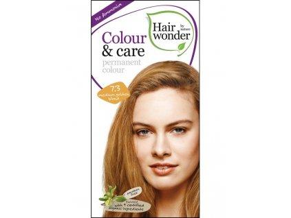 Hairwonder Dlouhotrvající barva Bio Středně zlatá blond 7.3 100ML