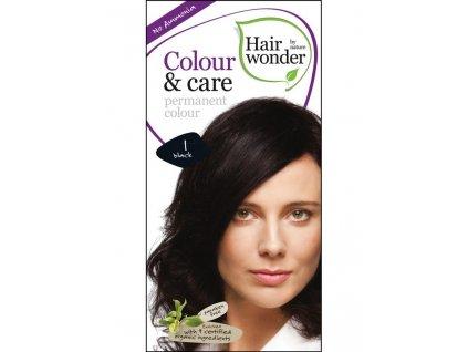 Hairwonder Dlouhotrvající barva Bio Černá 1 100ML