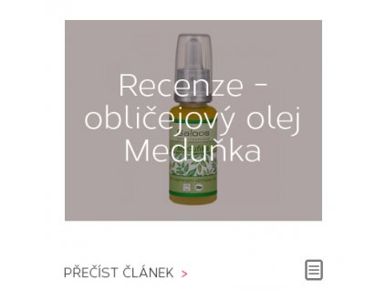 Recenze: regenerační obličejový olej Meduňka