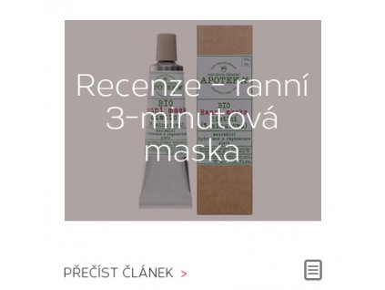 Recenze: ranní 3-minutová čistící maska