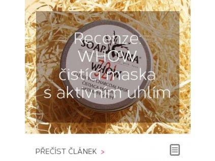 Recenze - WHOW čistící maska s aktivním uhlím