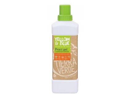 Yellow & Blue prací gel z mýdlových ořechů s pomerančovou silicí silicí 1 l