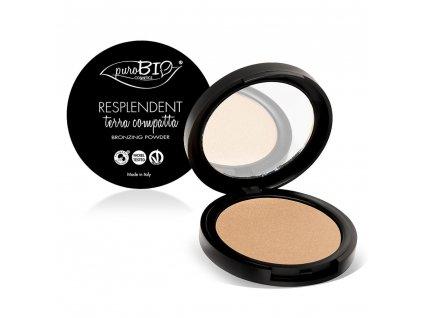 PuroBio Cosmetics Kompaktní bronzer matující 03 9g