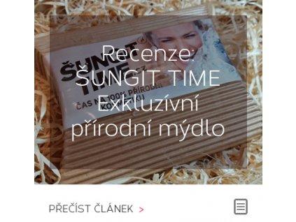 Recenze: ŠUNGIT TIME Exkluzívní přírodní mýdlo