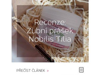 Recenze: Zubní prášek Nobilis Tilia