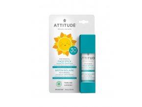 Attitude Dětská 100 % minerální ochranná tyčinka na obličej a rty SPF 30 bez vůně 18,4 g