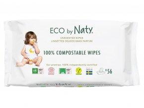 Eco by Naty Babycare Vlhčené ubrousky bez vůně - pro citlivou pokožku 56 ks