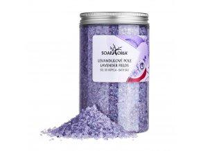Soaphoria  Přírodní sůl do koupele Levandulové pole 500 g