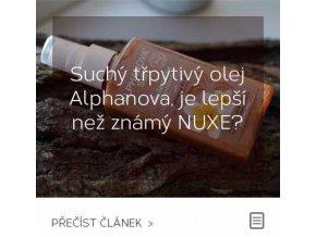 Suchý třpytivý olej Alphanova, je lepší než známý NUXE?