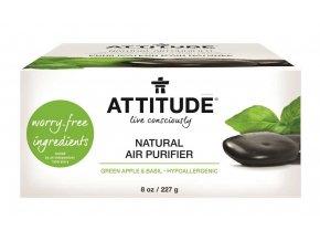 Attitude Přírodní čistící osvěžovač vzduchu s esenciálními oleji s vůní zeleného jablka a bazalky 227 g