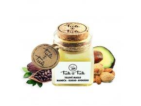 Ťuli a Ťuli Přírodní tělové máslo kakao – mandle – avokádo 100 ml