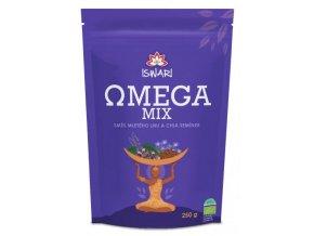 Iswari BIO Omega mix směs mletých semínek 10% chia a 90% hnědý len 250g