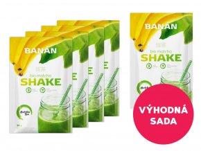 5 x Matcha Shake banánový 30 g za akční cenu!