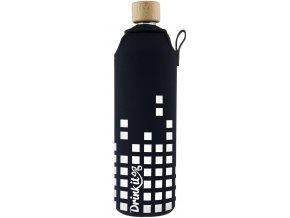 Drinkit Skleněná láhev s neoprénovým obalem Equalizer 700ml