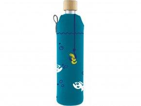 Drinkit Skleněná láhev s neoprénovým obalem Piraně 500ml