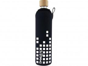 Drinkit Skleněná láhev s neoprénovým obalem Equalizer 500ml