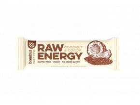 Bombus Raw energy kakao a kokos 50 g