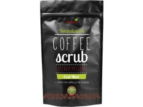 Vivaco Coffee scrub Tělový kávový peeling Chladivá máta 220 g