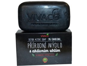 Vivaco Přírodní mýdlo s aktivním uhlím 100 g