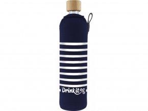 Drinkit Skleněná láhev s neoprénovým obalem Námořník 500 ml