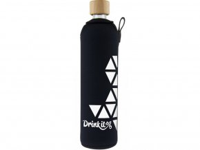Drinkit Skleněná láhev s neoprénovým obalem Triangl 500 ml