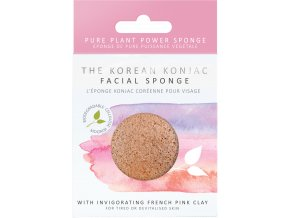 The Konjac Sponge Company Konjac houbička s růžovým jílem 1 ks