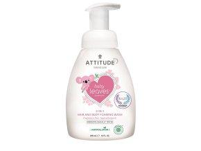 Attitude Baby Leaves Dětské tělové mýdlo a šampon 2v1 bez vůně 295 ml