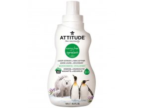 Attitude Prací gel a aviváž 2v1 s vůní Mountain Essentials 1050 ml