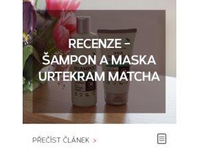 Recenze - Šampon a maska na vlasy Urtekram Matcha