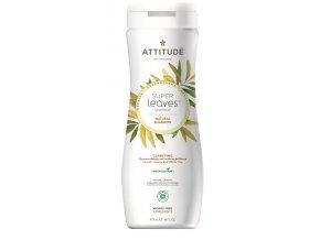 Attitude Super leaves Přírodní šampon s detoxikačním účinkem - rozjasňující pro normální a mastné vlasy 473 ml