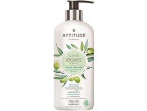 Attitude Super leaves Přírodní mýdlo na ruce s detoxikačním účinkem - olivové listy 473 ml