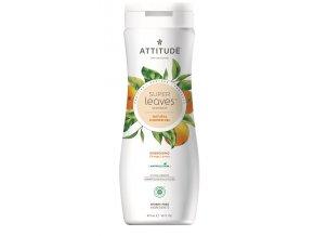 Attitude Super leaves Přírodní tělové mýdlo s detoxikačním účinkem - pomerančové listy 473 ml