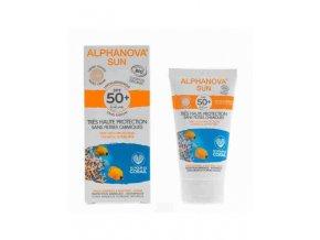 Alphanova SUN Opalovací krém na obličej tónovací hypoalergenní SPF 50 50g BIO