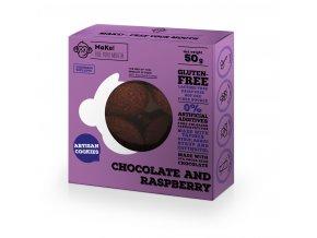 MaKe! Čokoládovo-malinové bezlepkové sušenky 50g