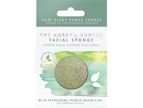 The Konjac Sponge Company Konjac houbička se zeleným jílem 1 ks