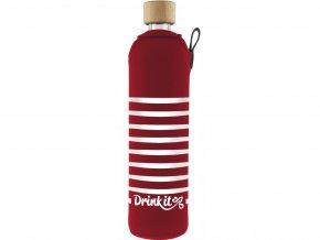 Drinkit Skleněná láhev s neoprénovým obalem Záchranář 500 ml